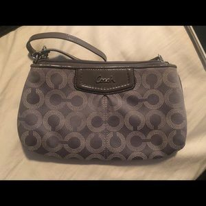 Coach Gray large wallet wristlet